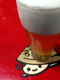 ゆめはまちゃんコースターとビールのサンプル