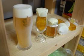 ビールの食品サンプル作り 練習中